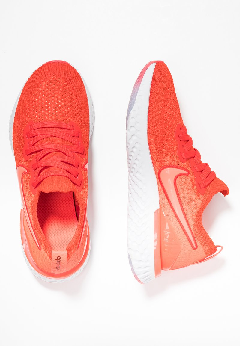 Nike Performance - EPIC REACT FLYKNIT 2 - Neutral running shoes - chile red/bright crimson/vast grey/black