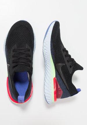 EPIC REACT FLYKNIT 2 - Chaussures de running neutres - black/ sapphire/lime blast