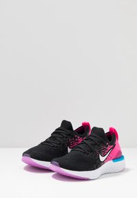 Nike Performance - EPIC REACT FLYKNIT 2 - Chaussures de running neutres - black/white/pink blast/vivid purple - 3