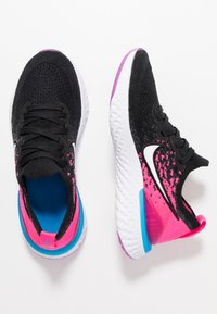 Nike Performance - EPIC REACT FLYKNIT 2 - Chaussures de running neutres - black/white/pink blast/vivid purple - 0