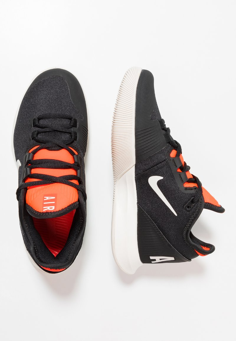 Nike Performance - AIR MAX WILDCARD HC - Multicourt tennis shoes - black/phantom/bright crimson