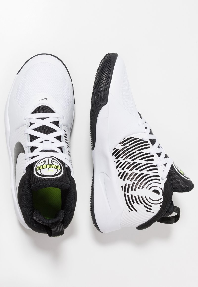 Nike Performance - TEAM HUSTLE D 9 - Basketball shoes - white/black/volt