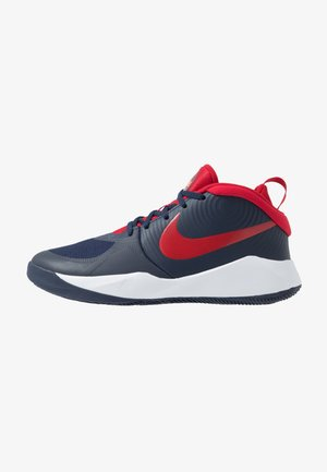 TEAM HUSTLE D 9 - Basketbalové boty - midnight navy/university red/white