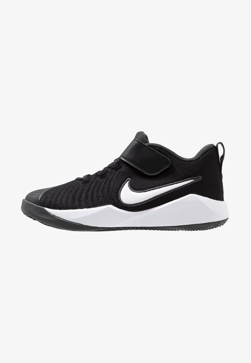 Nike Performance - TEAM HUSTLE QUICK 2 - Basketball shoes - black/white/anthracite/volt