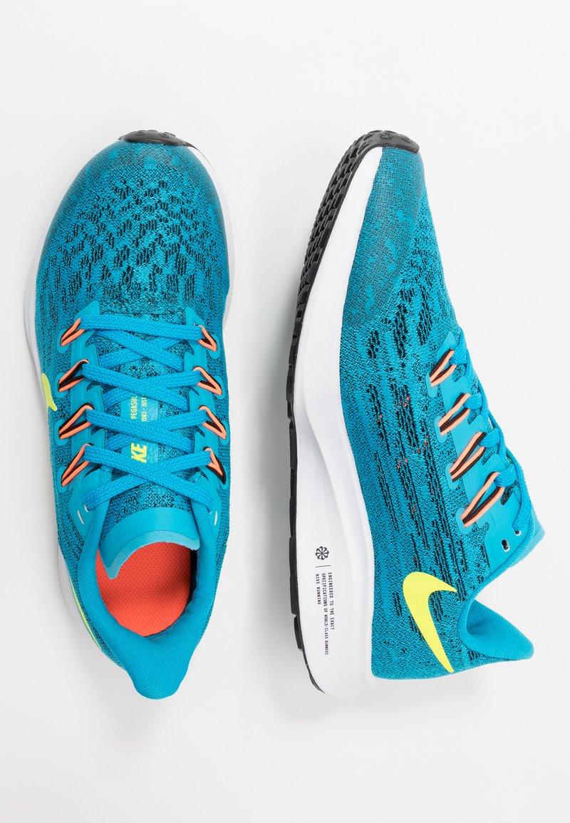 Nike Performance - AIR ZOOM PEGASUS 36 - Hardloopschoenen neutraal - laser blue/lemon/black/hyper crimson