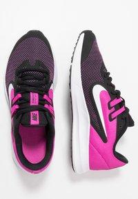 Nike Performance - DOWNSHIFTER 9 - Hardloopschoenen neutraal - black/white/active fuchsia - 0