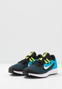 Nike Performance - DOWNSHIFTER 9 - Hardloopschoenen neutraal - black/white/laser blue/lemon - 3
