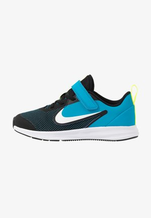 DOWNSHIFTER 9  - Zapatillas de running neutras - black/white/laser blue/lemon