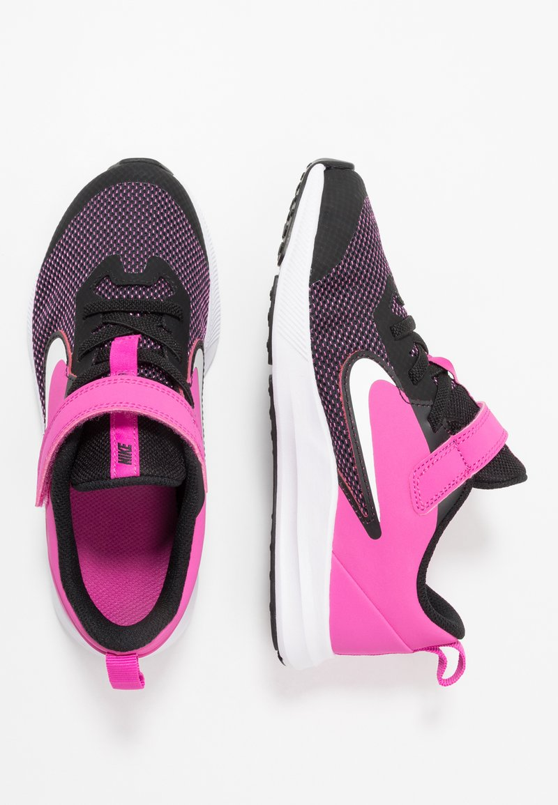 Nike Performance - DOWNSHIFTER 9  - Laufschuh Neutral - black/white/active fuchsia
