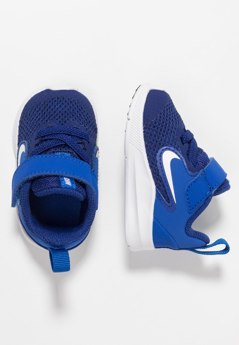 Nike Performance - DOWNSHIFTER 9 - Neutral running shoes - deep royal blue/white/game royal/black
