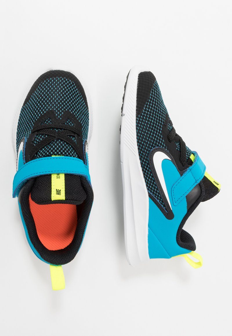 Nike Performance - DOWNSHIFTER - Hardloopschoenen neutraal - black/white/laser blue/lemon