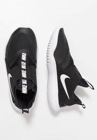 Nike Performance - FLEX RUNNER - Competition running shoes - black/white - 0