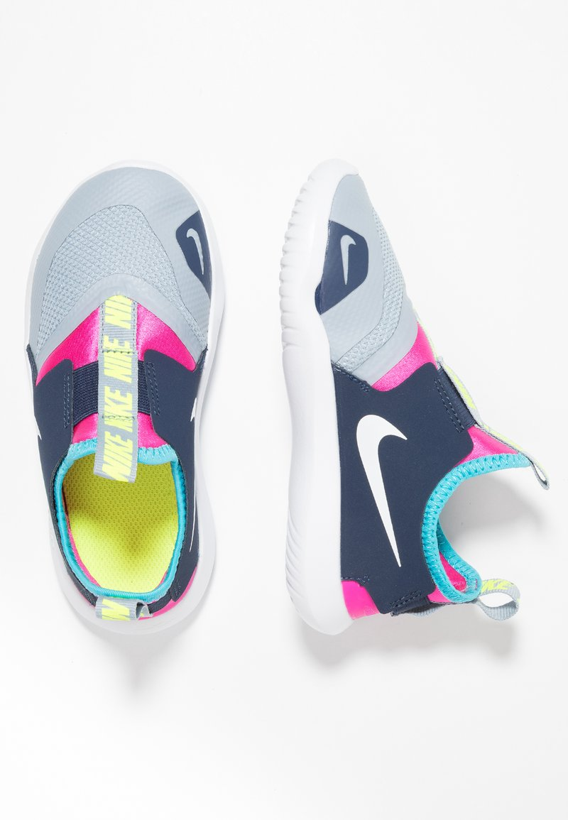 Nike Performance - FLEX RUNNER - Competition running shoes - obsidian mist/white/laser fuchsia