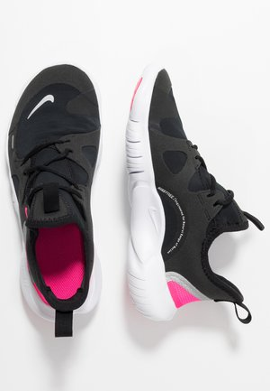 FREE RN 5.0 - Chaussures de course neutres - black/metallic silver/hyper pink/anthracite