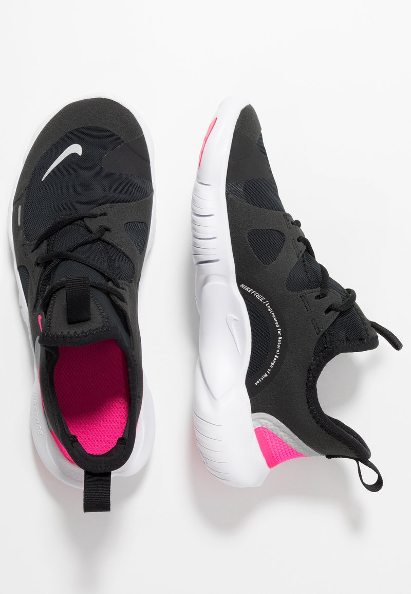 Nike Performance - FREE RN 5.0 - Laufschuh Natural running - black/metallic silver/hyper pink/anthracite