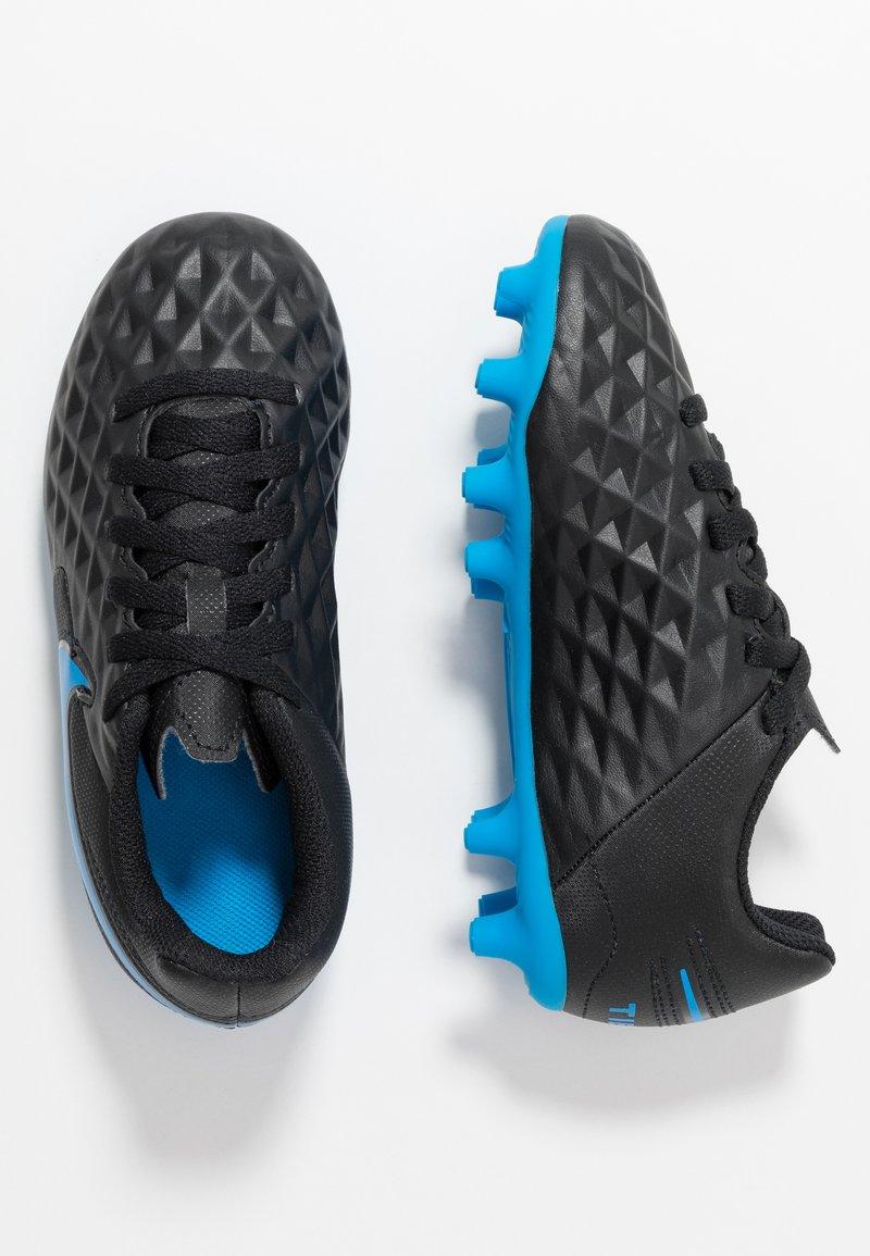 Nike Performance - TIEMPO LEGEND 8 CLUB FG/MG - Voetbalschoenen met kunststof noppen - black/blue hero