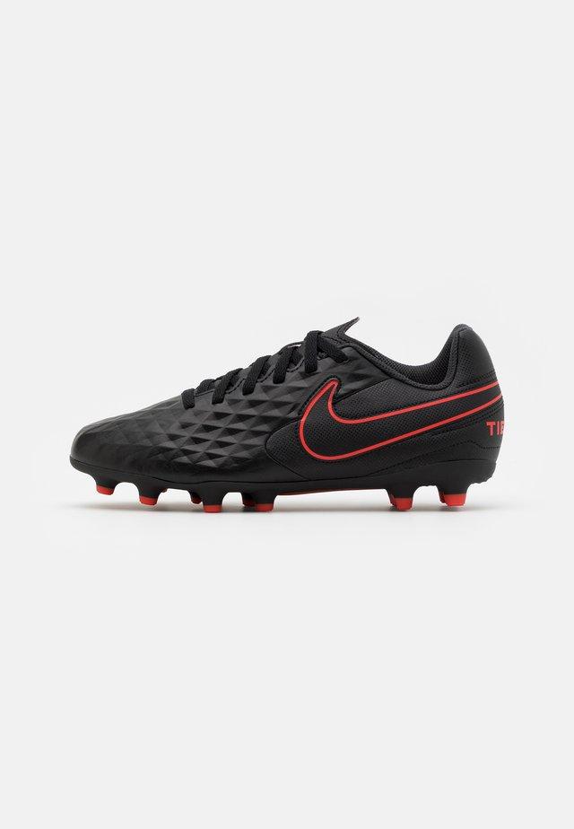 TIEMPO LEGEND 8 CLUB FG/MG UNISEX - Voetbalschoenen met kunststof noppen - black/dark smoke grey/chile red
