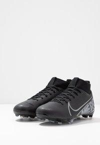 Nike Performance - MERCURIAL 7 ACADEMY FG/MG - Voetbalschoenen met kunststof noppen - black/metallic cool grey/cool grey - 3
