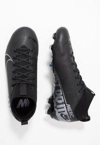 Nike Performance - MERCURIAL 7 ACADEMY FG/MG - Voetbalschoenen met kunststof noppen - black/metallic cool grey/cool grey - 0