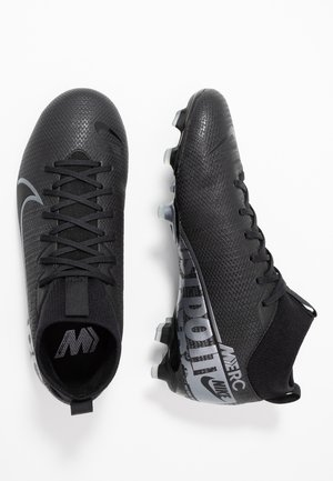 MERCURIAL 7 ACADEMY FG/MG - Scarpe da calcetto con tacchetti - black/metallic cool grey/cool grey