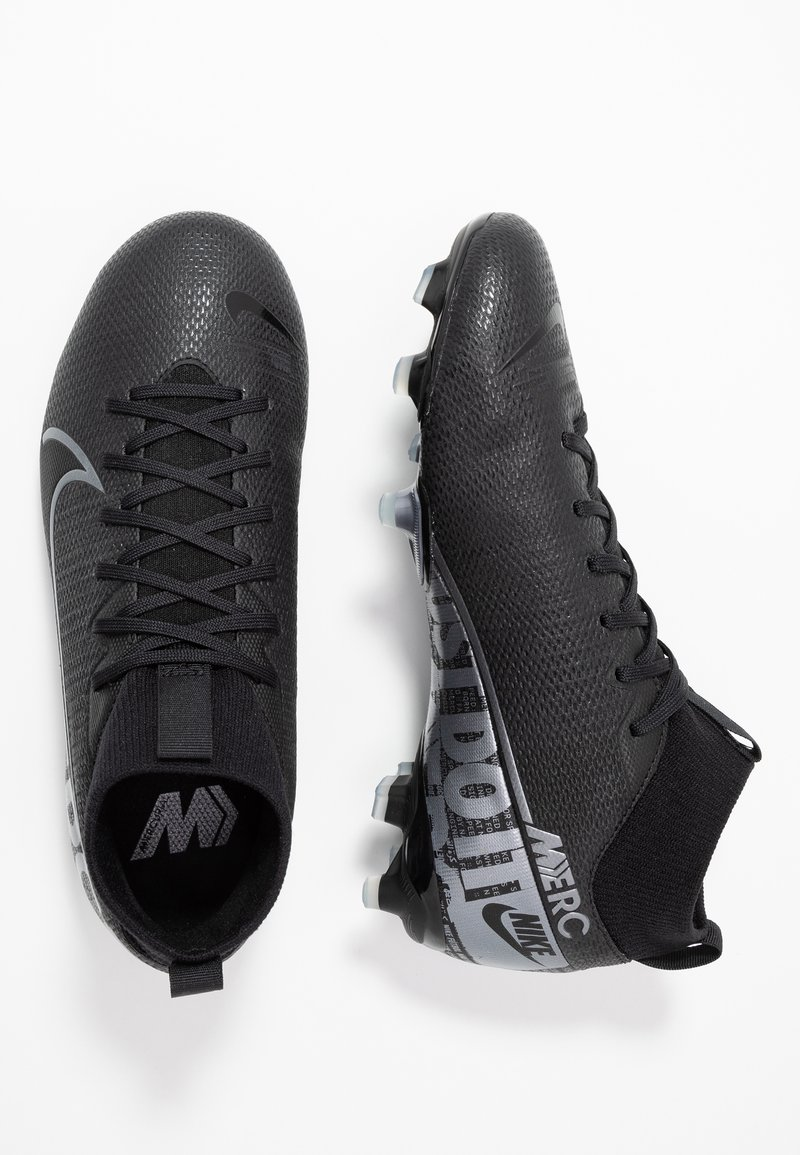 Nike Performance - ACADEMY FG/MG - Korki Lanki - black/metallic cool grey/cool grey