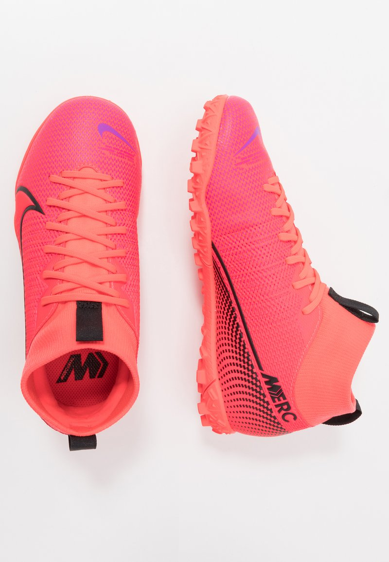 Nike Performance - MERCURIAL 7 ACADEMY TF - Voetbalschoenen voor kunstgras - laser crimson/black/laser crimson