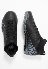 Nike Performance - 7 ACADEMY TF - Korki Turfy - black/metallic cool grey/cool grey - 0