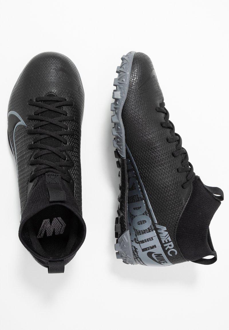 Nike Performance - 7 ACADEMY TF - Korki Turfy - black/metallic cool grey/cool grey