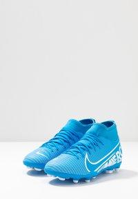Nike Performance - MERCURIAL 7 CLUB FG/MG - Voetbalschoenen met kunststof noppen - blue hero/white/obsidian - 4