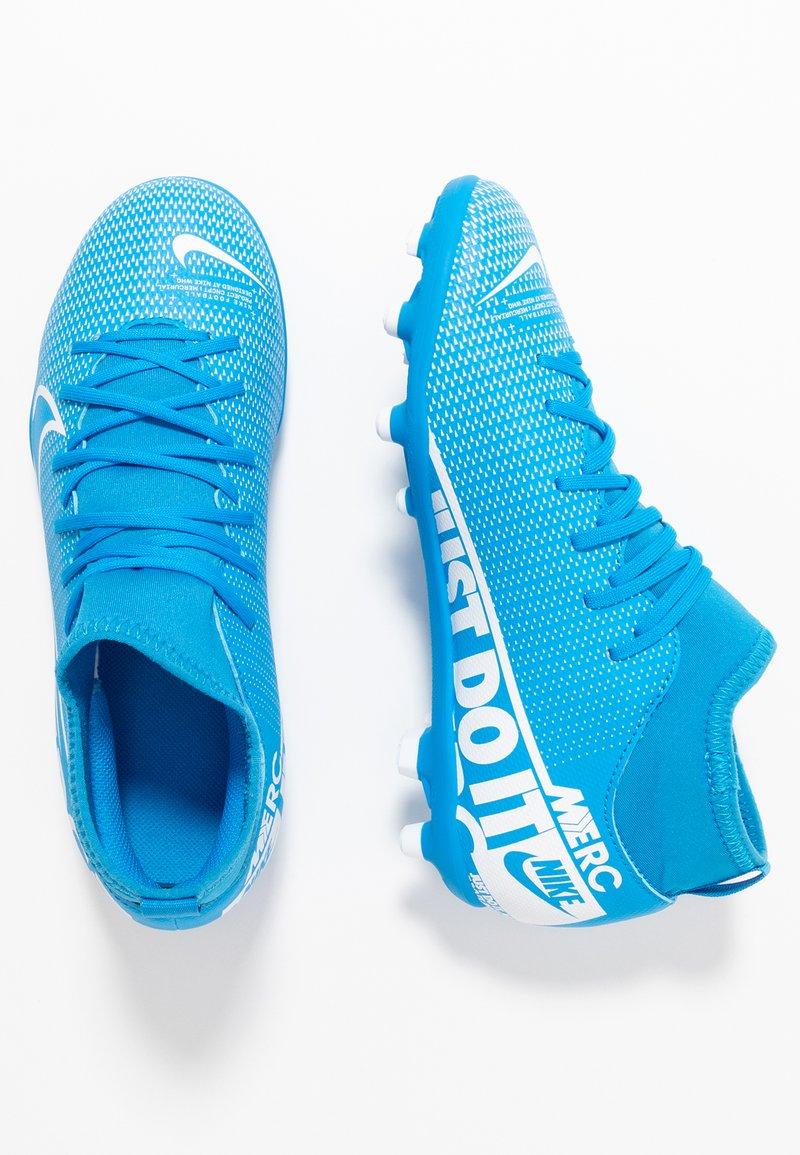 Nike Performance - MERCURIAL 7 CLUB FG/MG - Voetbalschoenen met kunststof noppen - blue hero/white/obsidian