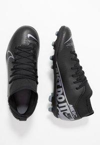 Nike Performance - MERCURIAL 7 CLUB FG/MG - Voetbalschoenen met kunststof noppen - black/metallic cool grey/cool grey - 0