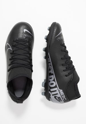 MERCURIAL 7 CLUB FG/MG - Scarpe da calcetto con tacchetti - black/metallic cool grey/cool grey
