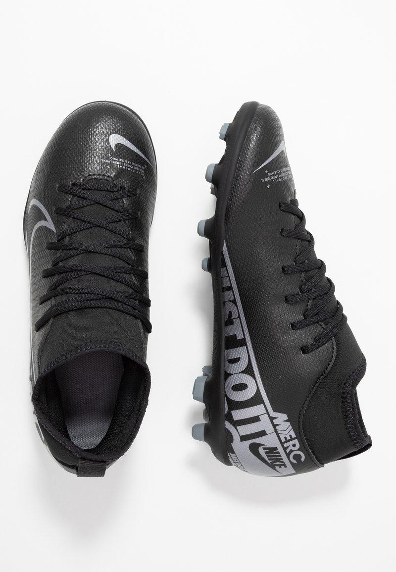 Nike Performance - MERCURIAL 7 CLUB FG/MG - Voetbalschoenen met kunststof noppen - black/metallic cool grey/cool grey