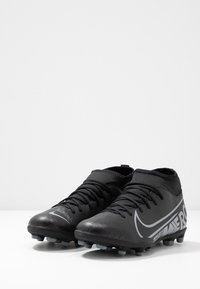 Nike Performance - MERCURIAL 7 CLUB FG/MG - Voetbalschoenen met kunststof noppen - black/metallic cool grey/cool grey - 3