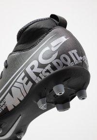 Nike Performance - MERCURIAL 7 CLUB FG/MG - Voetbalschoenen met kunststof noppen - black/metallic cool grey/cool grey - 2