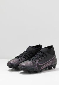 Nike Performance - MERCURIAL 7 CLUB FG/MG - Voetbalschoenen met kunststof noppen - black - 3