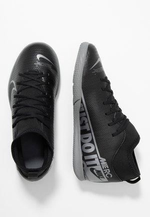 MERCURIAL 7 CLUB IC - Halówki - black/metallic cool grey/cool grey