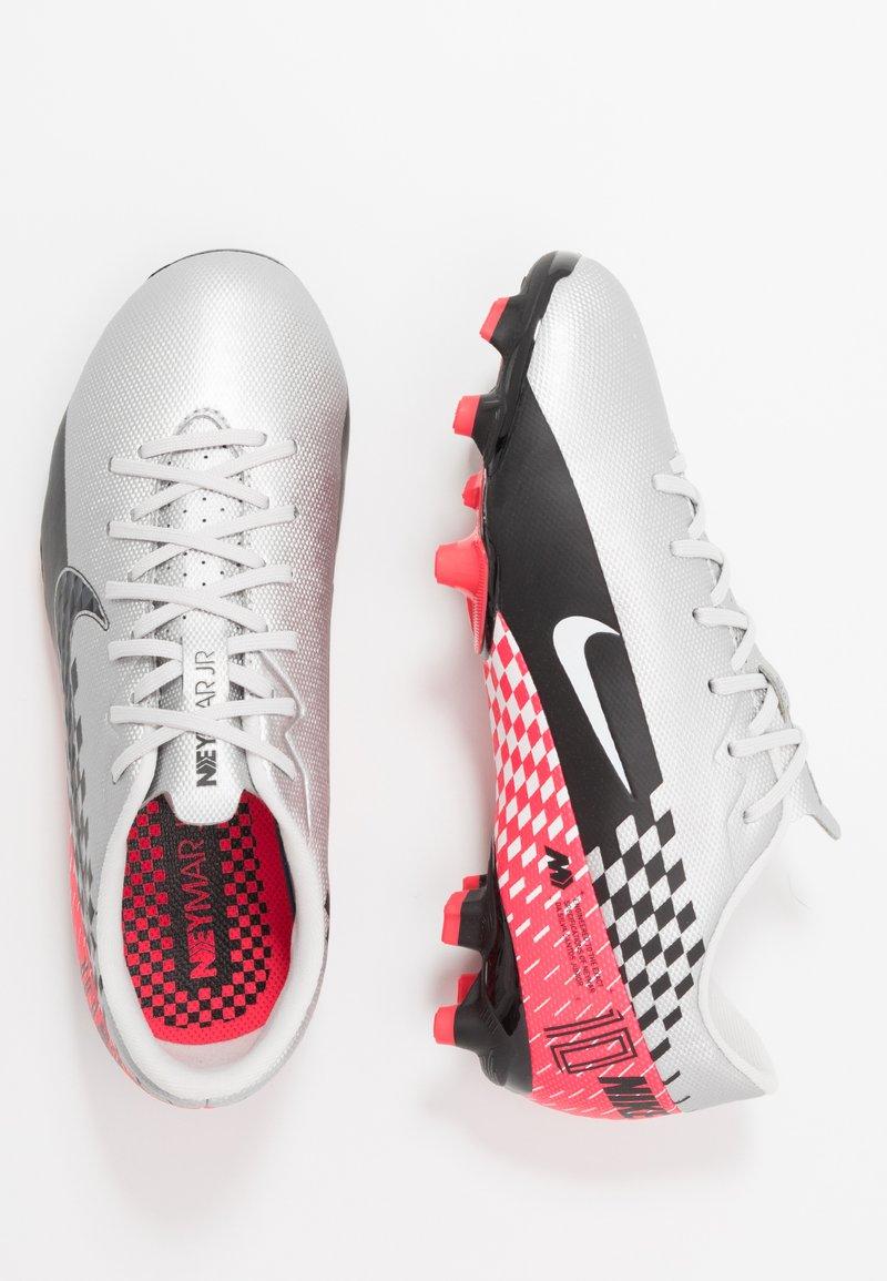 Nike Performance - VAPOR 13 ACADEMY NEYMAR FG/MG - Fußballschuh Nocken - chrome/black/red orbit/platinum tint/white