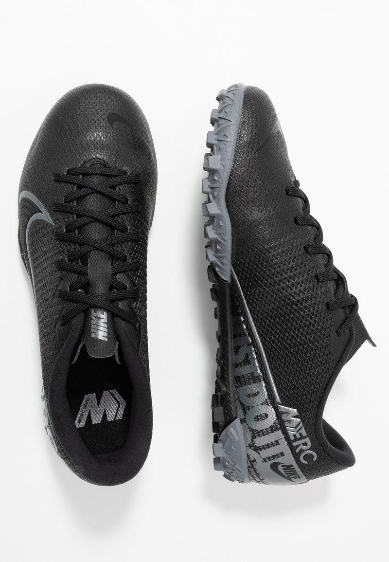 Nike Performance - VAPOR 13 ACADEMY TF - Fußballschuh Multinocken - black/metallic cool grey/cool grey