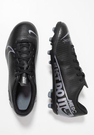 JR VAPOR 13 CLUB FG/MG - Voetbalschoenen met kunststof noppen - black/metallic cool grey/cool grey