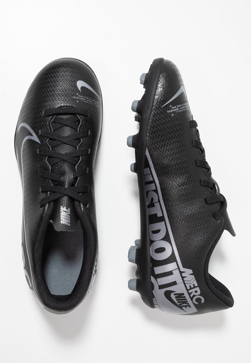 Nike Performance - JR VAPOR 13 CLUB FG/MG - Fußballschuh Nocken - black/metallic cool grey/cool grey