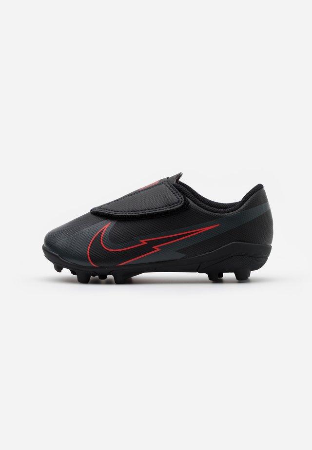 MERCURIAL JR VAPOR 13 CLUB MG UNISEX - Voetbalschoenen met kunststof noppen - black/dark smoke grey