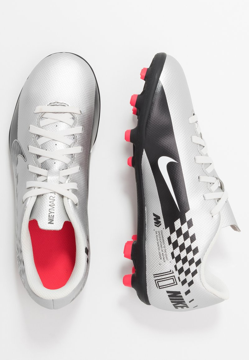 Nike Performance - VAPOR 13 CLUB NEYMAR FG/MG - Fußballschuh Nocken - chrome/black/red orbit/platinum tint/white