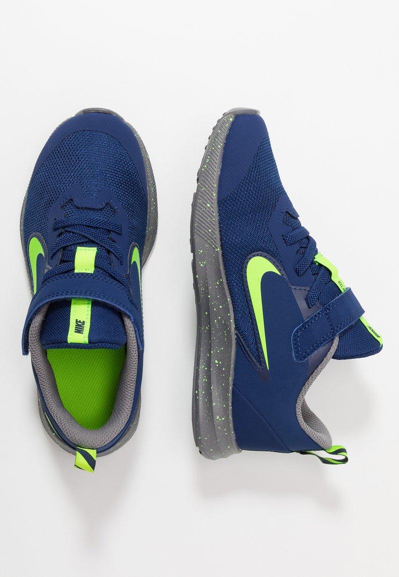 Nike Performance - DOWNSHIFTER 9 - Neutrala löparskor - blue void/electric green/gunsmoke