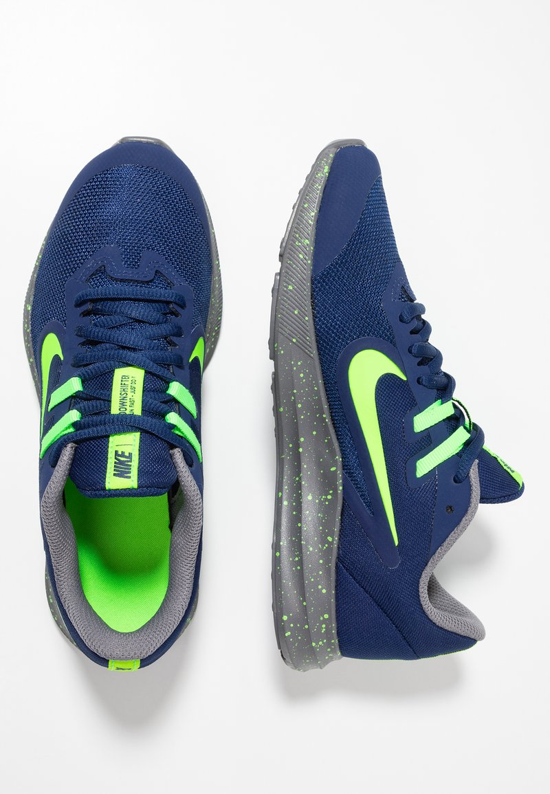 Nike Performance - DOWNSHIFTER 9 - Hardloopschoenen neutraal - blue void/electric green/gunsmoke
