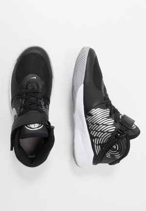 TEAM HUSTLE D 9 FLYEASE - Basketball shoes - black/metallic silver/wolf grey