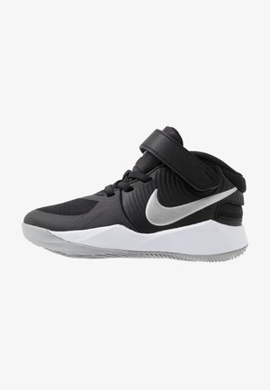 TEAM HUSTLE D 9 FLYEASE - Zapatillas de baloncesto - black/metallic silver/wolf grey