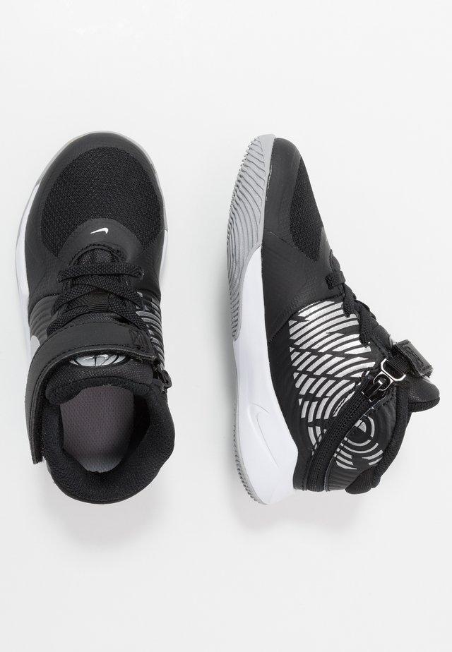 TEAM HUSTLE D 9 FLYEASE - Basketball shoes - black/metallic silver/wolf grey