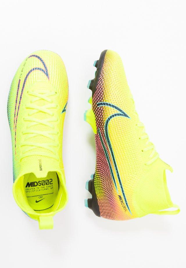 MERCURIAL 7 ELITE FG - Scarpe da calcetto con tacchetti - lemon/black/aurora green