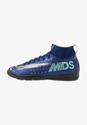 MERCURIAL 7 ACADEMY MDS IC - Indoor football boots - blue void/metallic silver/white/black